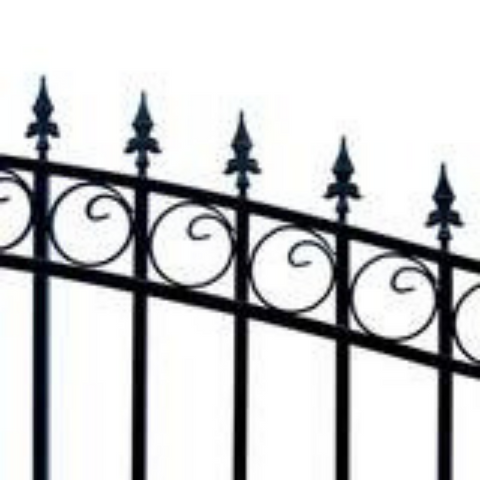 Image of Aleko Steel Single Swing Driveway Gate Prague Style 18 x 6 ft DG18PRASSW-AP