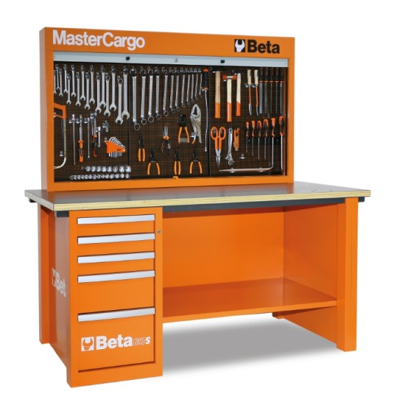 Beta Tools C57S/A-O-MASTERCARGO WORKBENCH ORANGE