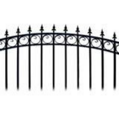 Aleko Steel Single Swing Driveway Gate London Style 18 x 6 ft DG18LONSSW-AP