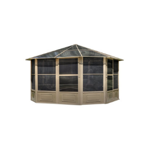 Gazebo Penguin™ Sunroom Kit 12x12 Tan with Polycarbonate Roof
