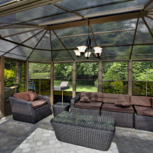 Image of Gazebo Penguin™ Sunroom Kit 12x12 Tan with Polycarbonate Roof