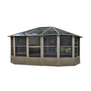 Gazebo Penguin™ Sunroom Kit 12x15 Sand Tan with Polycarbonate Roof