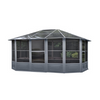 Gazebo Penguin™ Sunroom Kit 12x15 Slate Gray with Polycarbonate Roof