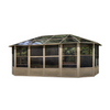 Gazebo Penguin™ Sunroom Kit 12x18 Sand Tan with Polycarbonate Roof