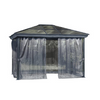 Gazebo Penguin Venice Gazebo 10 Ft. x 10 Ft Slate with Nettings and Privacy Curtains
