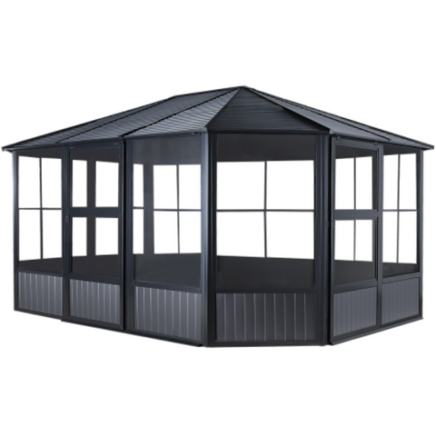 Image of Sojag 445-9163001 CHARLESTON #93D Solarium 12'x15' ST Roof