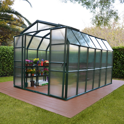 Image of Palram Rion Grand Gardener 8' x 12' Greenhouse HG7212 - Twin Wall