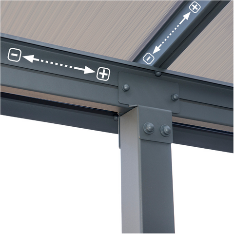 Image of Palram Olympia 10' x 18' Patio Cover - Gray/Bronze- HG8818