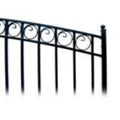 Image of Aleko Steel Single Swing Driveway Gate Paris Style 18 x 6 ft DG18PARSSW-AP