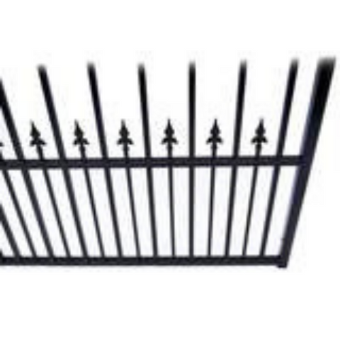 Aleko Steel Single Swing Driveway Gate Munich Style 18 x 6 ft DG18MUNSSW-AP