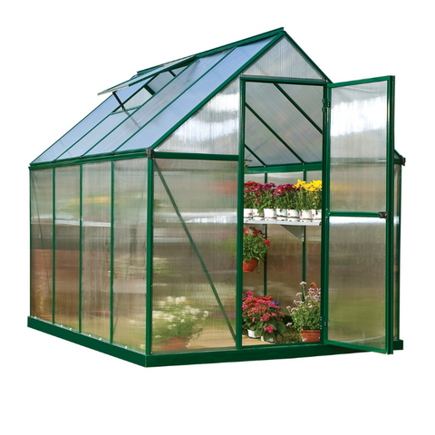 Image of Palram Mythos 6' x 8' Greenhouse Natures Series - Green - HG5008G