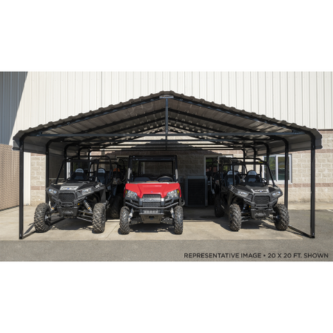 Image of Arrow CPHC202407 CARPORT 20X24X07 CHARCOAL