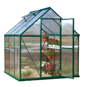 Palram HG5006G Mythos 6' x 6' Greenhouse Nature series- Green