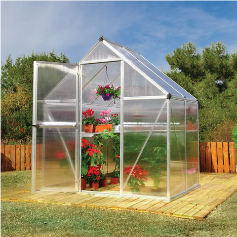 Image of Palram Mythos 6' x 4' Greenhouse Nature Series - Silver - HG5005