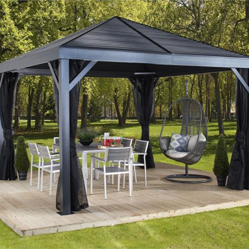 Sojag South Beach 12x12 Hardtop Gazebo with Mosquito Netting