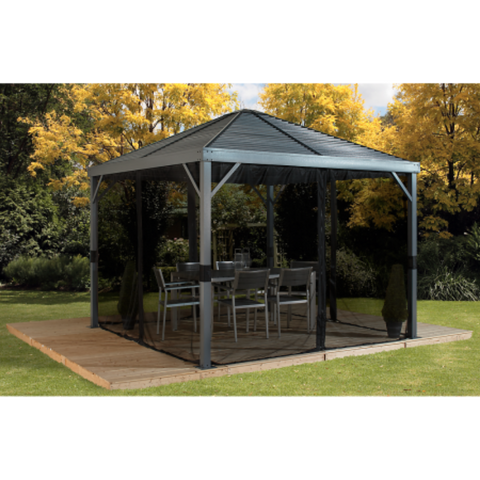 Image of Sojag 500-9162806 SANIBEL #93LLL Gazebo 8'x8' Steel Roof