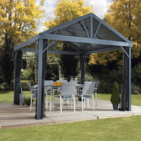 Sojag Sanibel I 8x8 Hardtop Gazebo with Mosquito Netting
