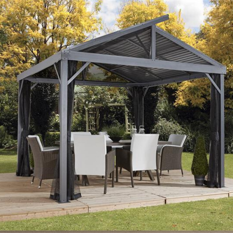 Image of Sojag Sanibel II 8x8 Hardtop Gazebo with Mosquito Netting