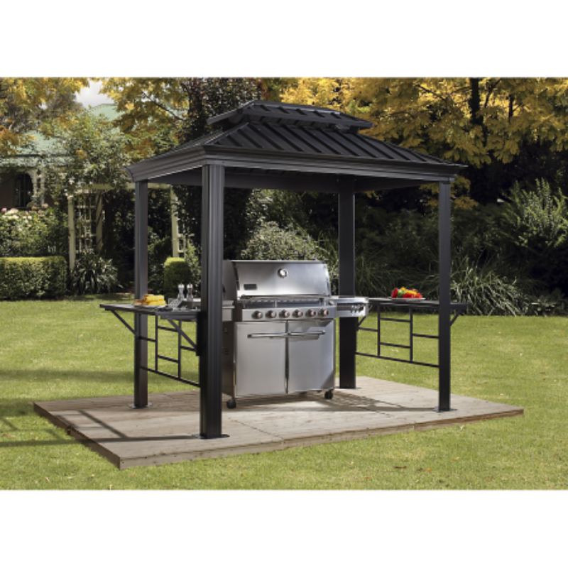 Sojag 500-9162875 BBQ MESSINA #77 Gazebo 6'x8' Steel Roof