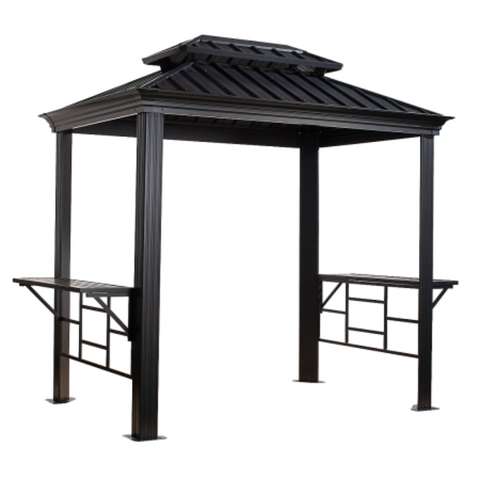Image of Sojag 500-9162875 BBQ MESSINA #77 Gazebo 6'x8' Steel Roof