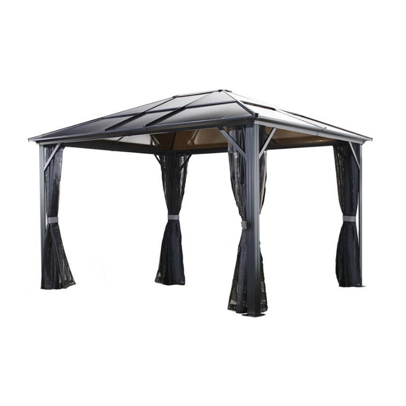 Sojag Meridien 10x10 Hardtop Gazebo with Mosquito Netting