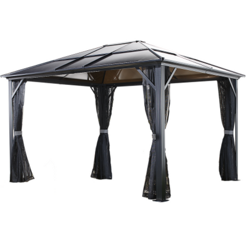 Image of Sojag Gazebo 500-9162936 MERIDIEN #77 Gazebo 10'x12' PC 8mm Roof