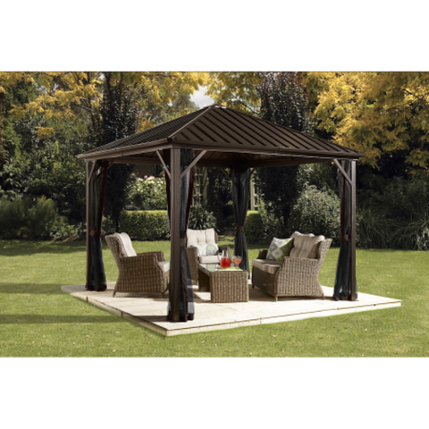 Image of Sojag 500-9164992 DAKOTA #53 Gazebo 8'x8' Steel Roof