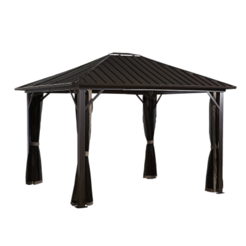 Image of Sojag 500-9165050 GENOVA #53 Gazebo 12'x12' Steel Roof
