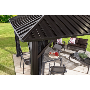 Image of Sojag 500-9165074 GENOVA II #53 Gazebo 12'x16' Steel Roof