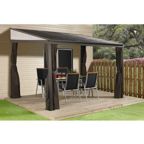 Image of Sojag 500-9165470 PORTLAND #53 Wall Gazebo 10'x12' ST Roof