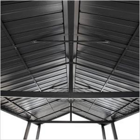 Image of Samara 12 ft x 20 ft Dark Grey Carport