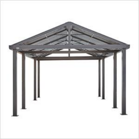 Samara 12 ft x 20 ft Dark Grey Carport