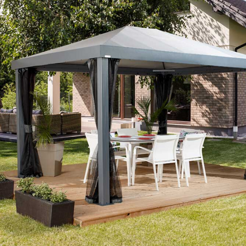 Image of Sojag Monteserra Gazebo 10x12 ft. with Mosquito Netting