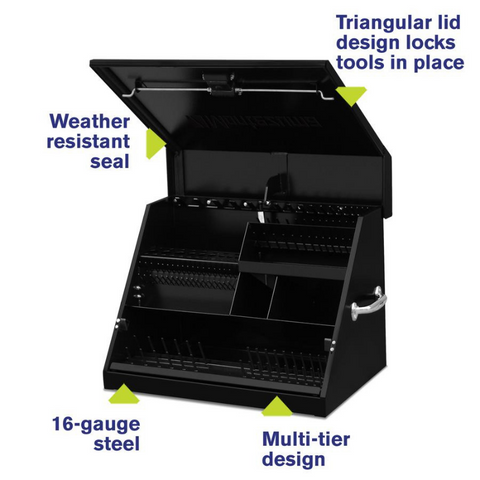 Montezuma SE250B 26-Inch Black Portable Toolbox (Weather Resistant)