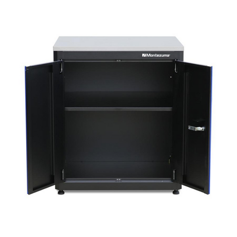 Image of Montezuma BKMG30242BC 2-Doors Base Cabinet with Stainless Steel Worktop