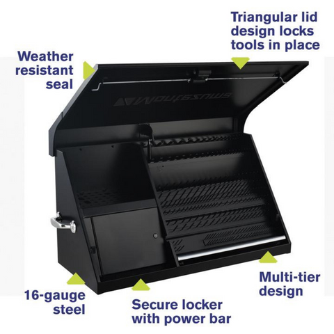 Image of Montezuma DX411FB 41-Inch Flat Black Portable Toolbox (Weather Resistant)