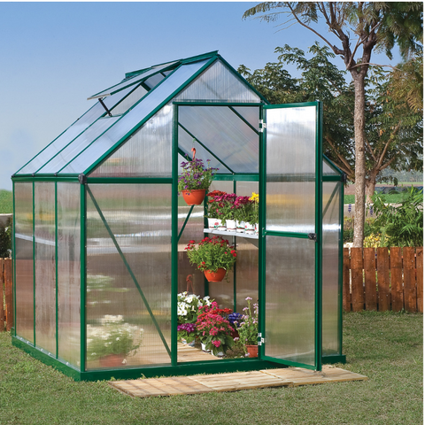 Image of Palram HG5006G Mythos 6' x 6' Greenhouse Nature series- Green