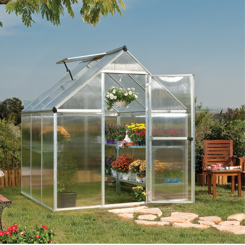 Palram Mythos 6' x 6' Greenhouse Nature Series - Silver - HG5006