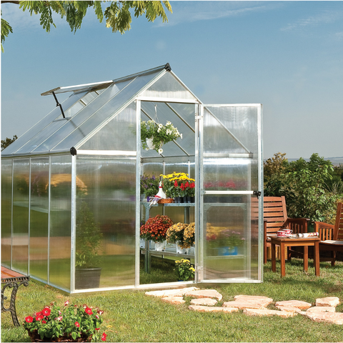Image of Palram Mythos 6' x 8' Greenhouse Nature Series - Silver - HG5008