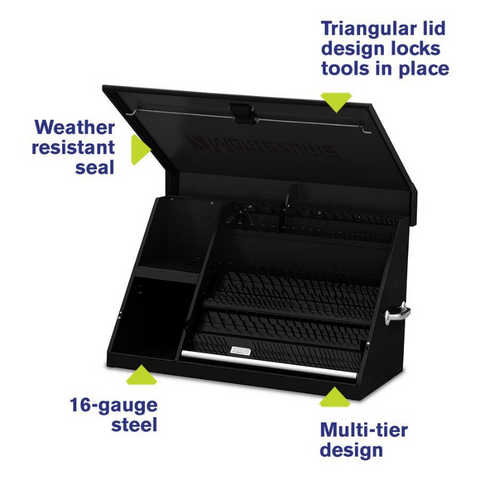 Image of Montezuma XL450B 36-Inch Black Portable Toolbox (Weather Resistant)