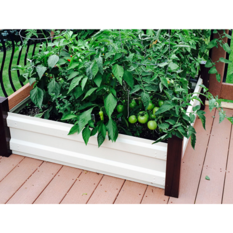 Image of Arrow RBG44 Raised Bed Garden, 4x4, Hot Dipped Galvanized Steel, G90, Espresso / Latte
