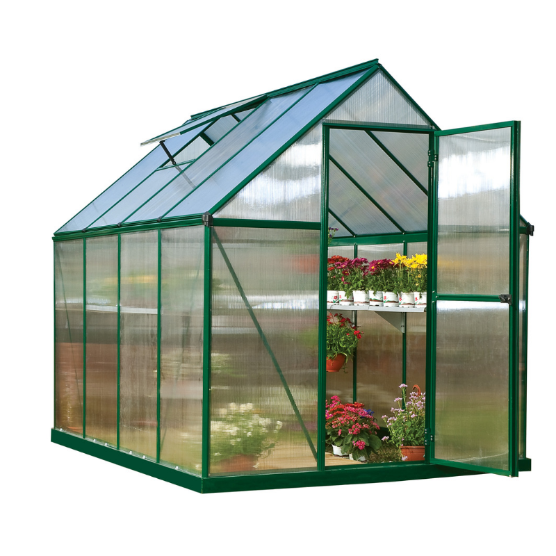 Palram HG5010 Mythos 6' x 10' Greenhouse Nature Series - Silver