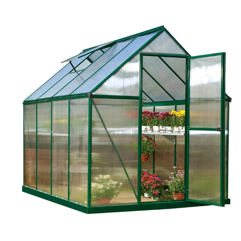 Image of Palram HG5010 Mythos 6' x 10' Greenhouse Nature Series - Silver