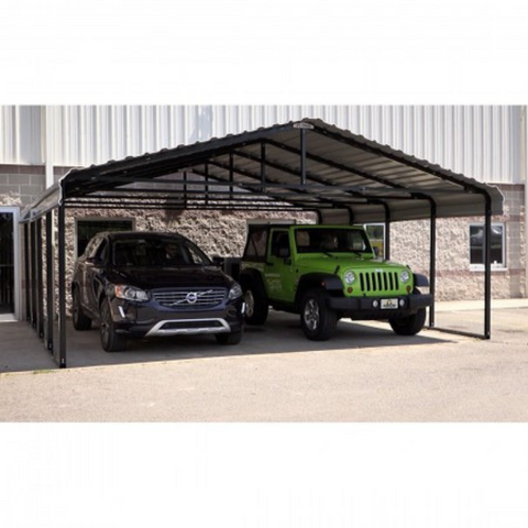 Arrow CPHC202007 CARPORT 20X20X07 CHARCOAL
