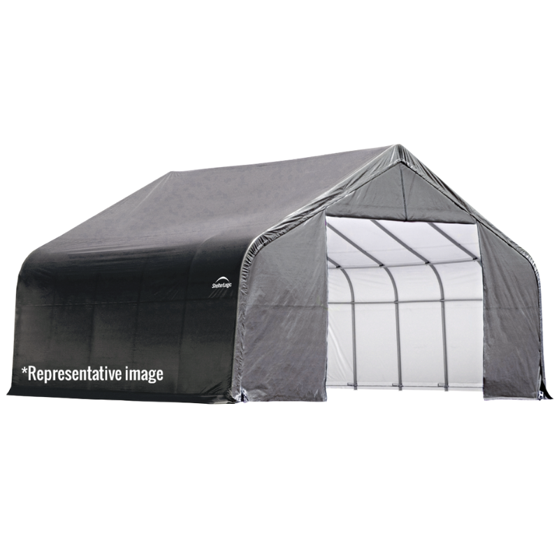 ShelterLogic 74432 13x24x10 Peak Style Shelter, Grey Cover