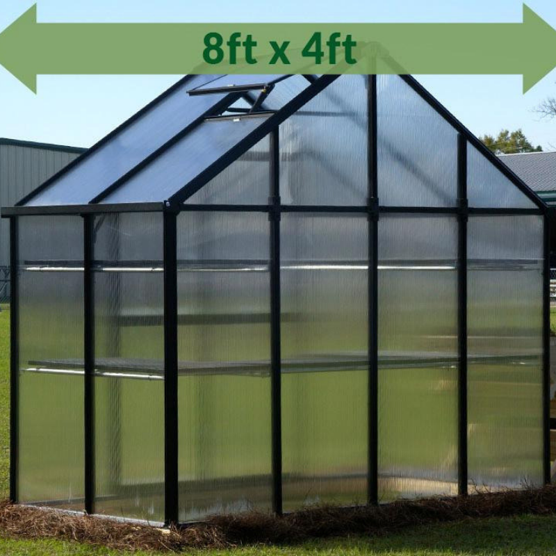 Monticello MONT-PATIO-BK Monticello 8FT x 4FT Patio Greenhouse