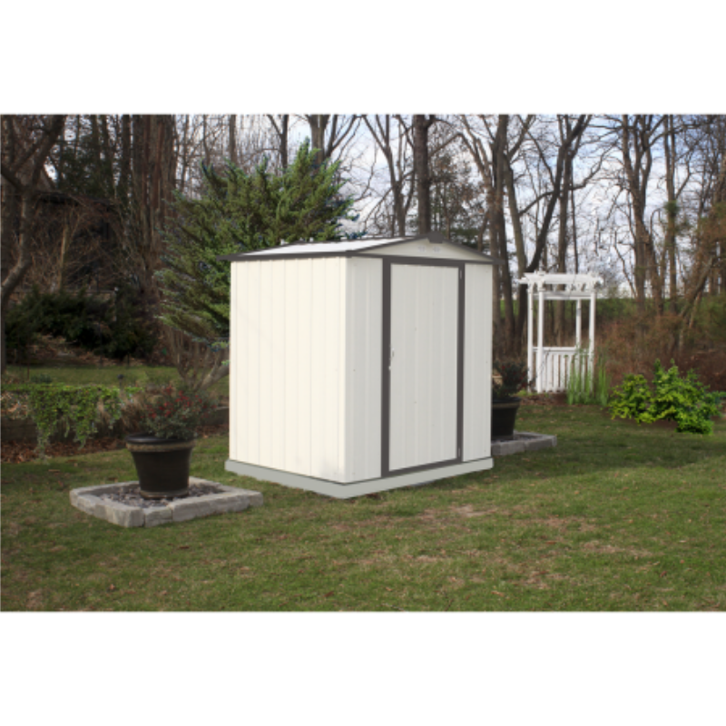 Arrow EZ6565LVCR EZEE Shed®, 6x5, Low Gable, 65 in walls, vents, Cream