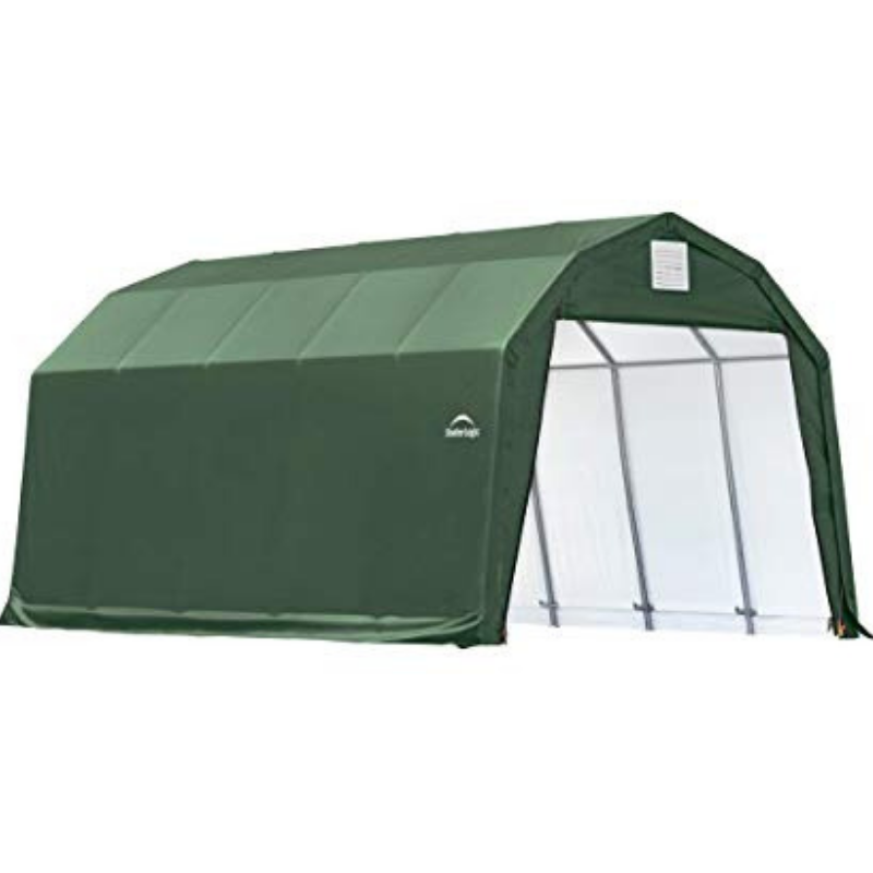 ShelterLogic 90054 12x20x11 Barn Shelter, Green Cover