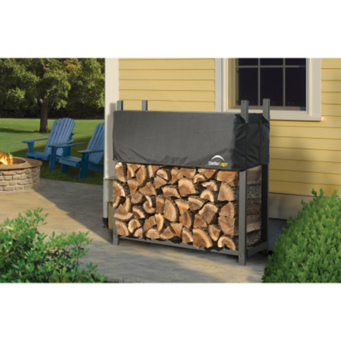 Shelter Logic 90474 4 ft. / 1,2 m Ultra Duty Firewood Rack w/Cover