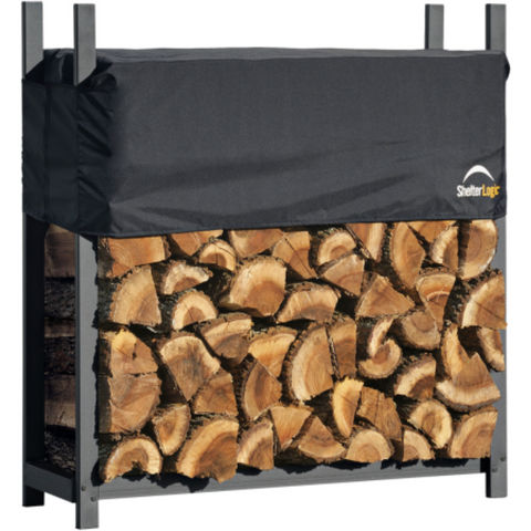 Image of Shelter Logic 90474 4 ft. / 1,2 m Ultra Duty Firewood Rack w/Cover